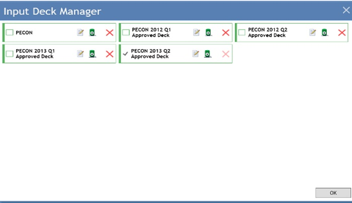 Multi Input Deck Management